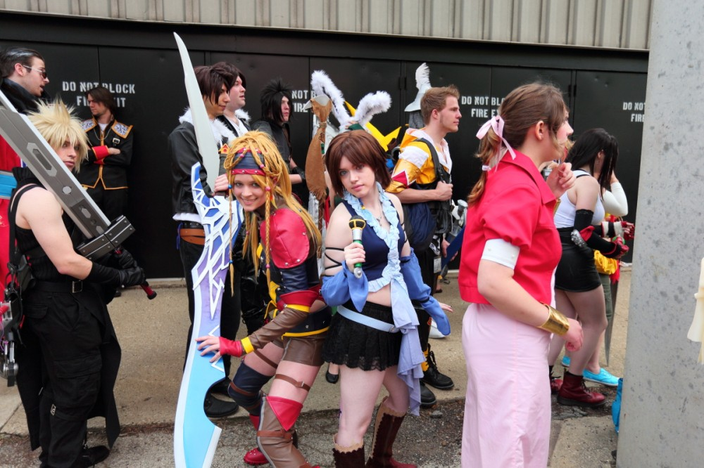 Probably the best Rikku I saw as she somehow pulled off the hair. The Yuna cosplay is also pretty damn good.
