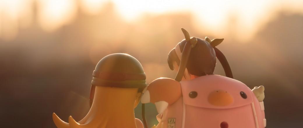 Snapshot: Hachikuji and Shinobu at dawn