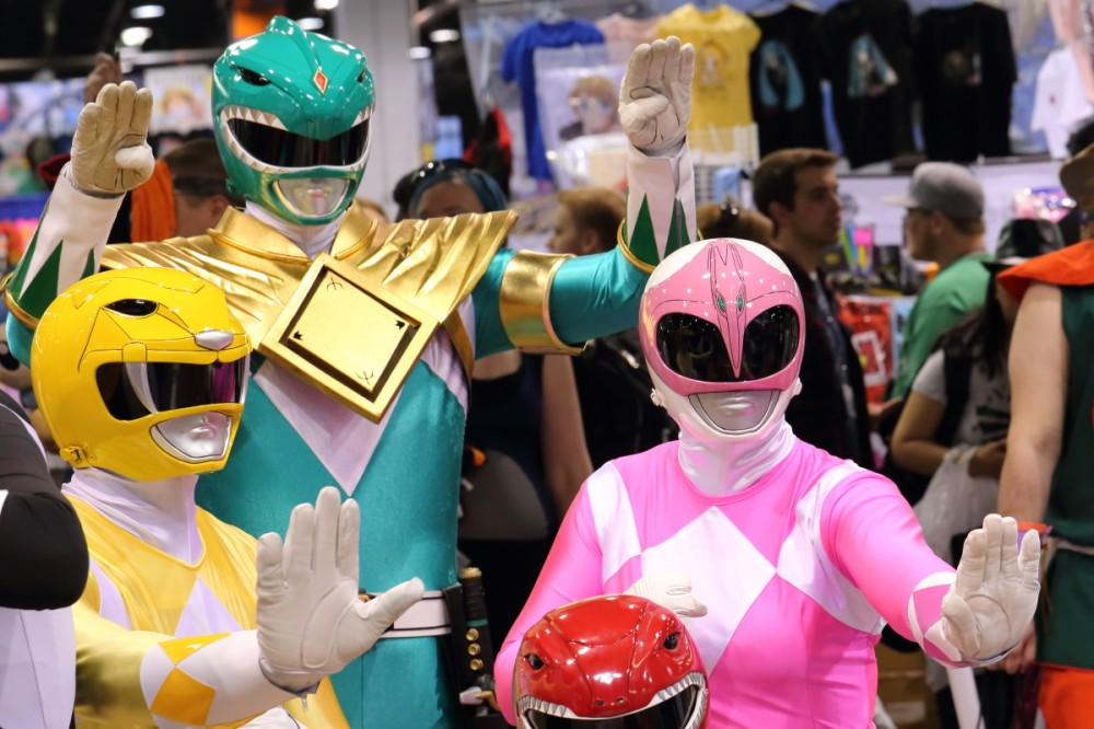 And then I saw the Power Rangers. How many Power Rangers did YOU run into today?